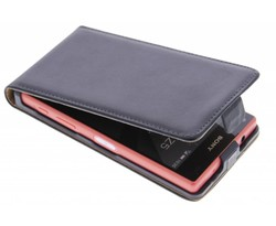 Zwart luxe flipcase Sony Xperia Z5 Compact