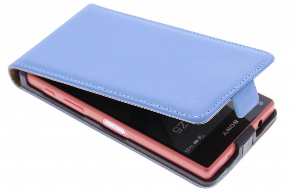 Blauwe luxe flipcase voor de Sony Xperia Z5 Compact