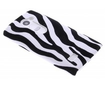 Zebra flock design hardcase hoesje LG Leon