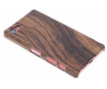 Hout design hardcase hoesje Sony Xperia Z5 Compact