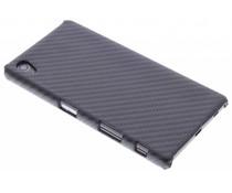 Zwart carbon look hardcase hoesje Sony Xperia Z5