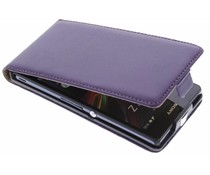Paarse luxe flipcase Sony Xperia Z