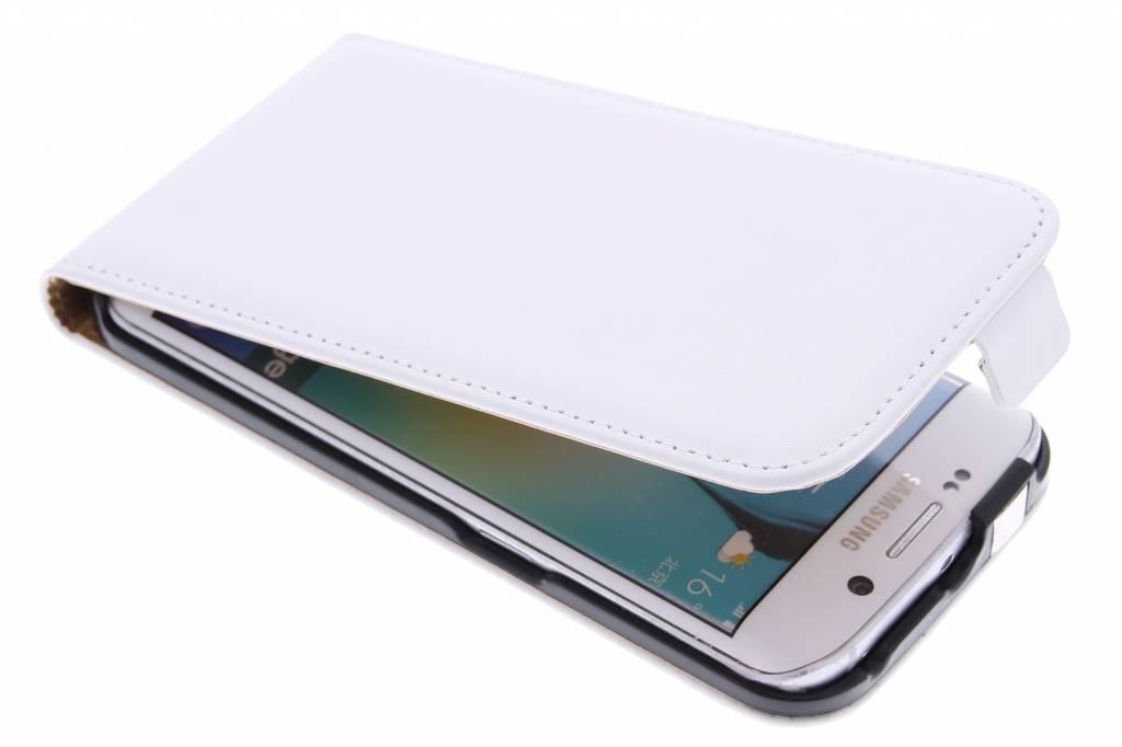 Witte luxe flipcase voor de Samsung Galaxy S6 Edge