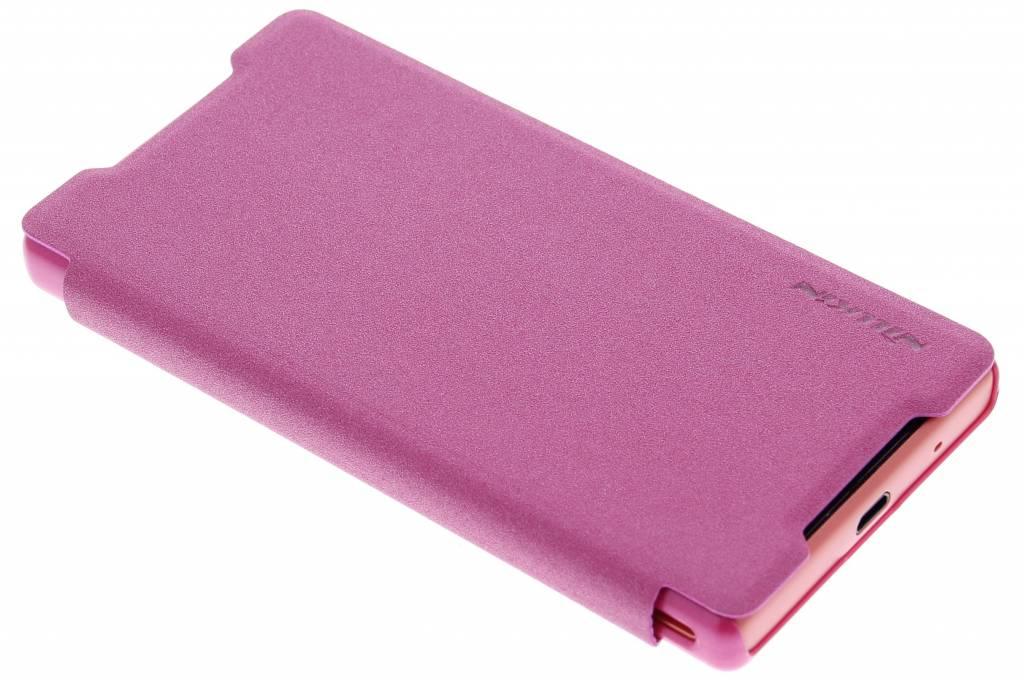 Nillkin Sparkle slim booktype hoes voor de Sony Xperia Z5 Compact - Fuchsia