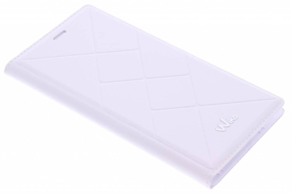 Wiko Folio Back Cover Jetlines voor de Wiko Pulp 4G - White