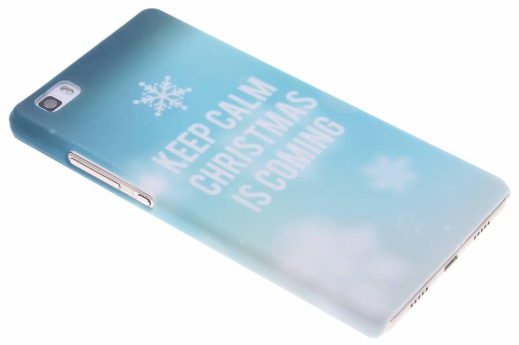 Keep Calm Christmas design hardcase hoesje voor de Huawei P8 Lite