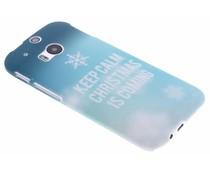 Keep Calm Christmas design hardcase HTC One M8 / M8s
