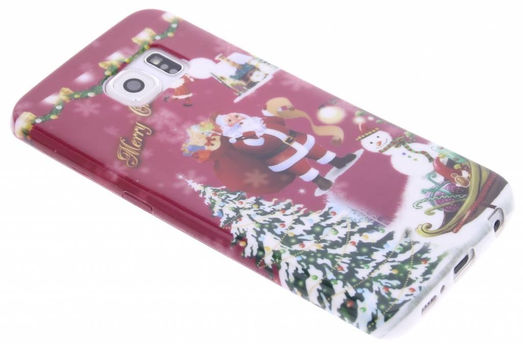 Christmas Edition TPU siliconen hoesje voor de Samsung Galaxy S6 Edge