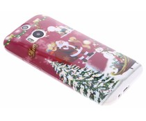Christmas Edition TPU hoesje HTC One M8 / M8s