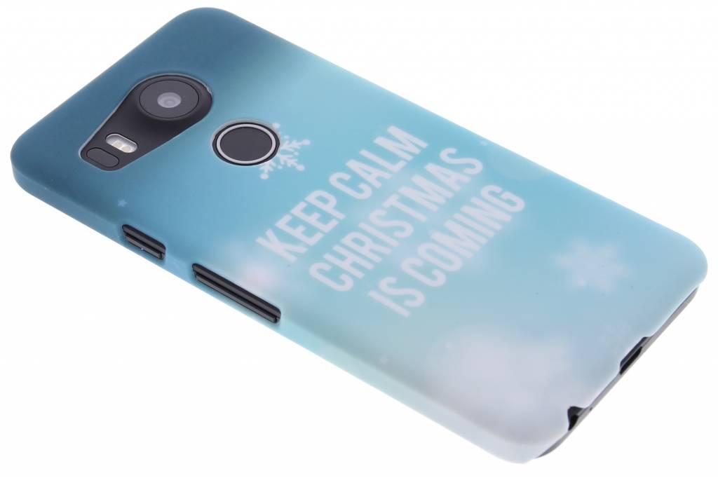 Keep Calm Christmas design hardcase hoesje voor de LG Nexus 5X