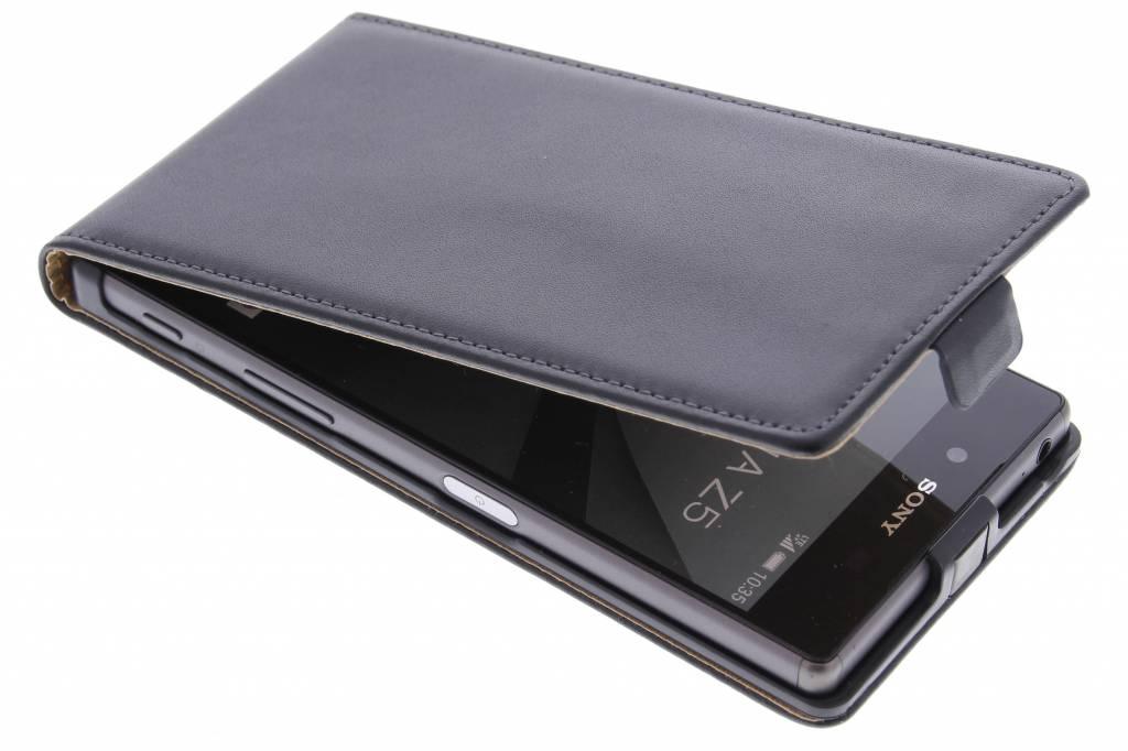 Zwarte luxe flipcase voor de Sony Xperia Z5