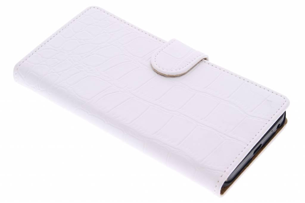 Witte krokodil booktype hoes voor de LG Nexus 5X
