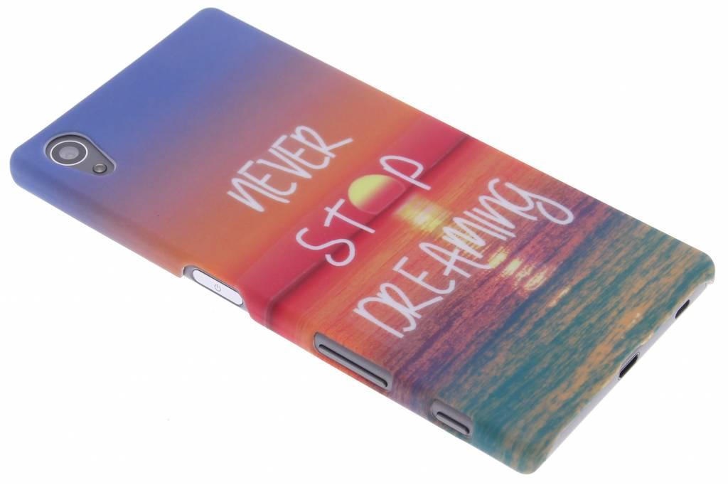 Never stop dreaming design hardcase hoesje voor de Sony Xperia Z5