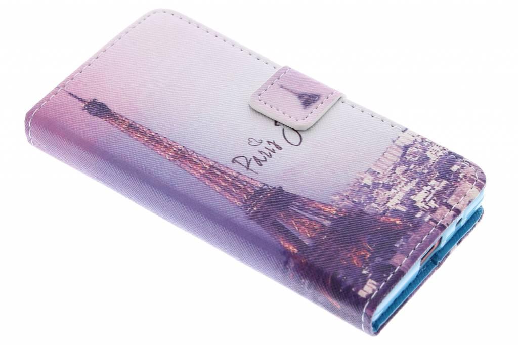 Parijs design TPU booktype hoes voor de Sony Xperia Z5 Compact