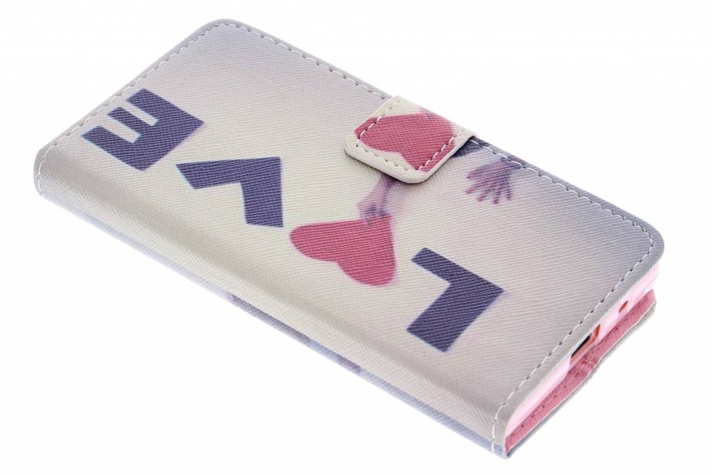 Love design TPU booktype hoes voor de Sony Xperia Z5 Compact