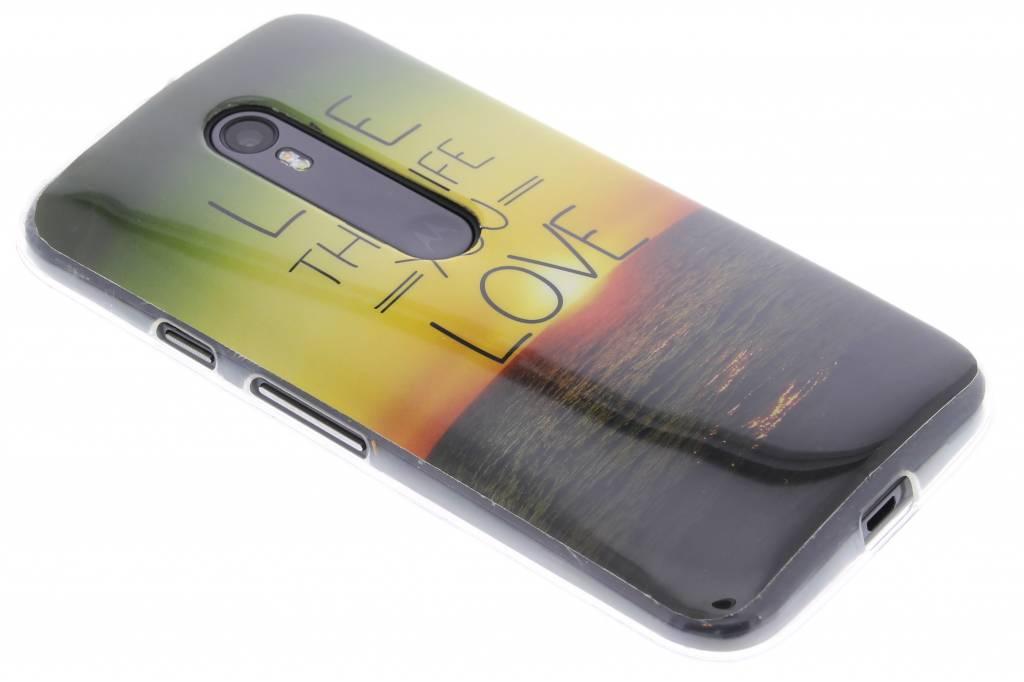 Love the life design TPU siliconen hoesje voor de Motorola Moto G 3rd Gen 2015