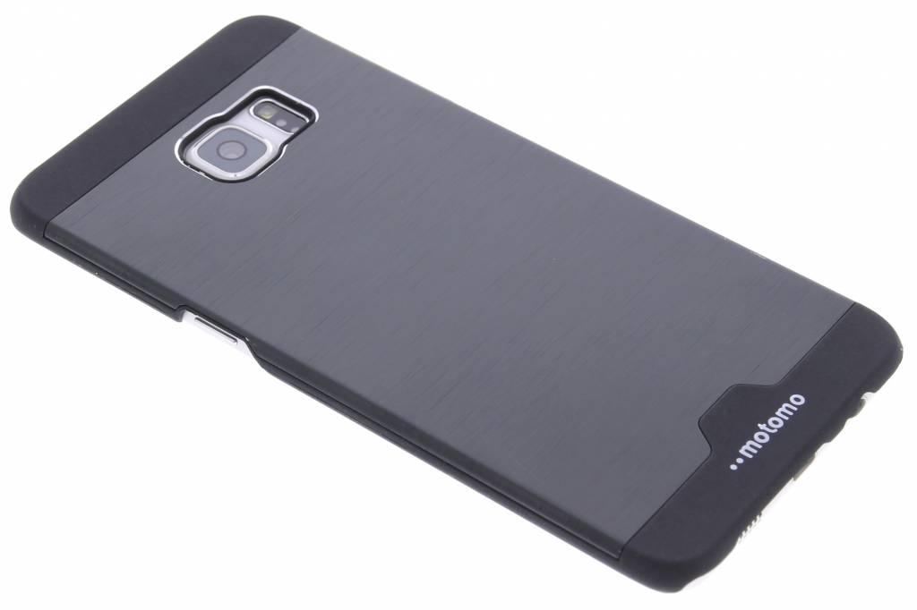 Zwart brushed aluminium hardcase hoesje voor de Samsung Galaxy S6 Edge Plus