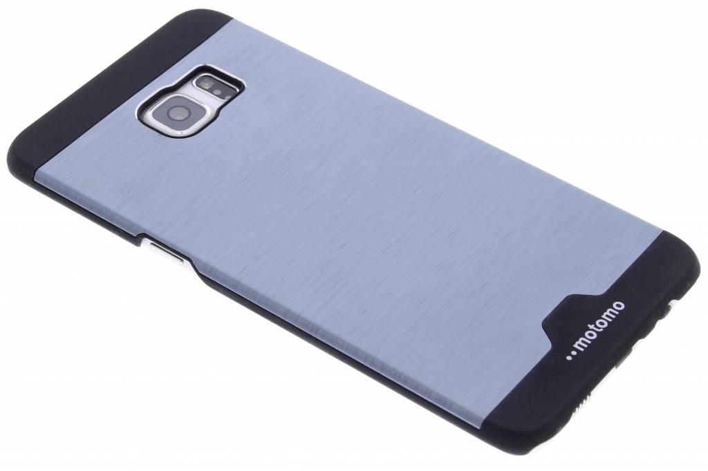 Donkerblauw brushed aluminium hardcase hoesje voor de Samsung Galaxy S6 Edge Plus