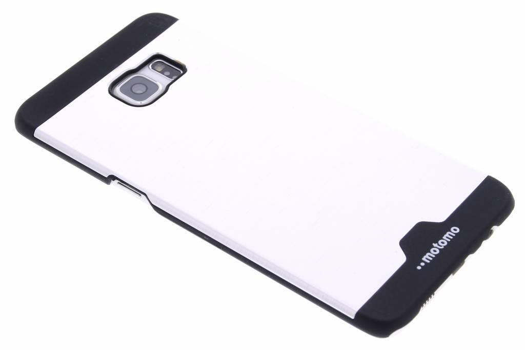Zilver brushed aluminium hardcase hoesje voor de Samsung Galaxy S6 Edge Plus