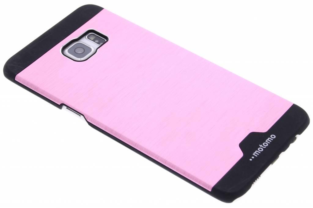 Roze brushed aluminium hardcase hoesje voor de Samsung Galaxy S6 Edge Plus