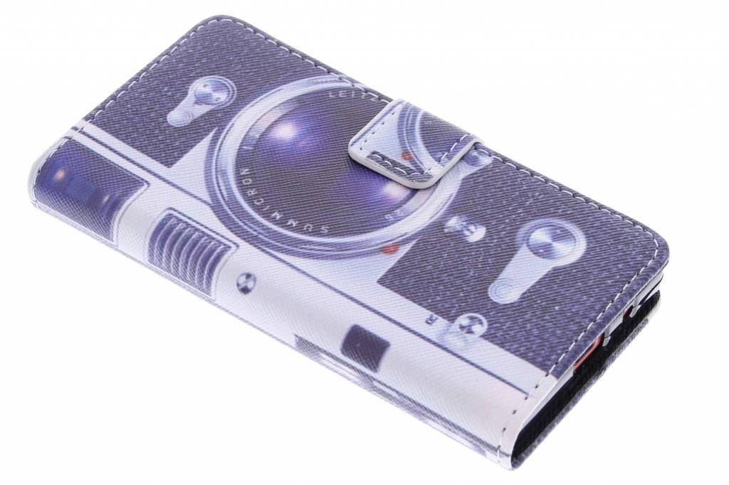 Camera design TPU booktype hoes voor de Sony Xperia Z5 Compact