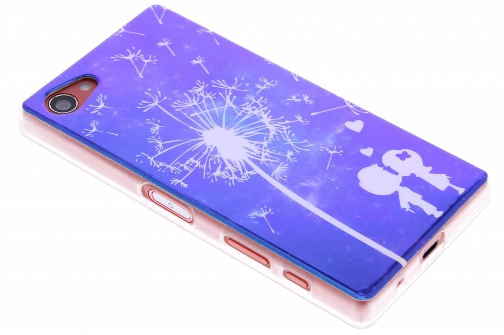 Metallic dandelion design TPU siliconen hoesje voor de Sony Xperia Z5 Compact