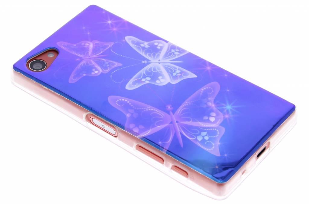 Metallic vlinder design TPU siliconen hoesje voor de Sony Xperia Z5 Compact