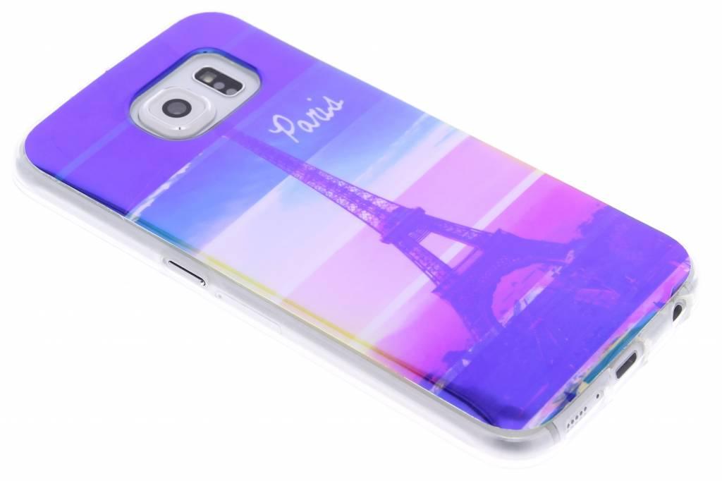 Metallic eiffeltoren design TPU siliconen hoesje voor de Samsung Galaxy S6