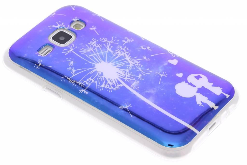 Metallic dandelion design TPU siliconen hoesje voor de Samsung Galaxy J1