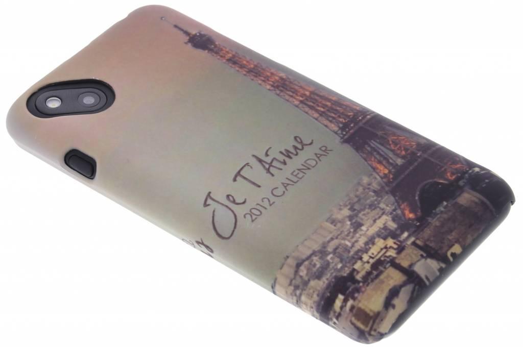 Parijs design hardcase hoesje voor de Wiko Sunset 2