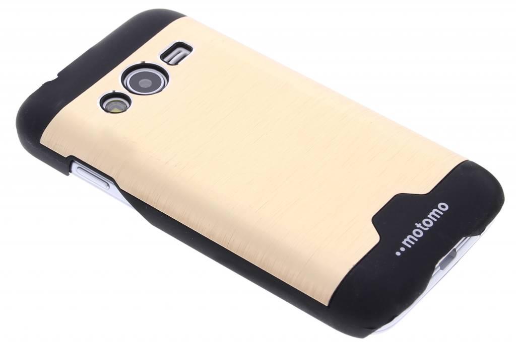 Goud brushed aluminium hardcase hoesje voor de Samsung Galaxy Trend 2 (Lite)