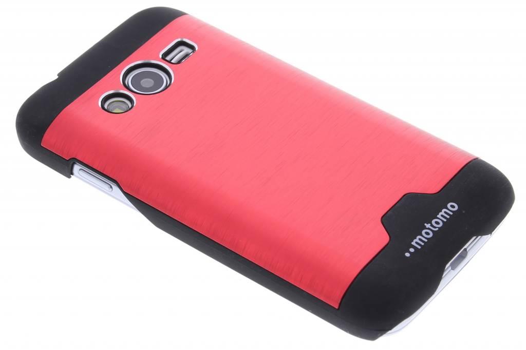 Rood brushed aluminium hardcase hoesje voor de Samsung Galaxy Trend 2 (Lite)