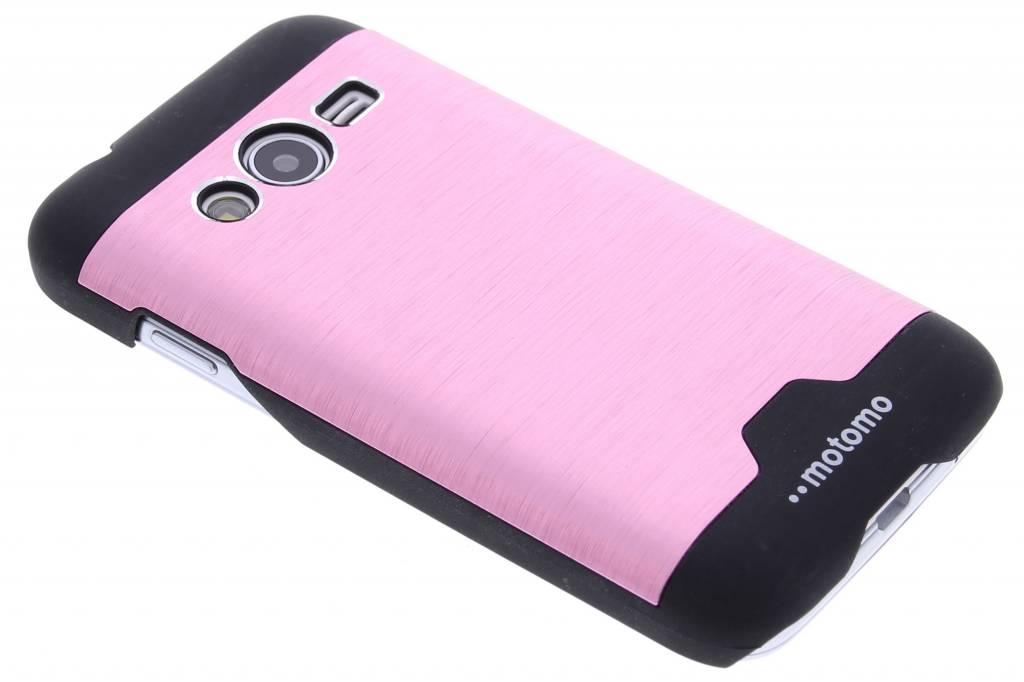 Roze brushed aluminium hardcase hoesje voor de Samsung Galaxy Trend 2 (Lite)