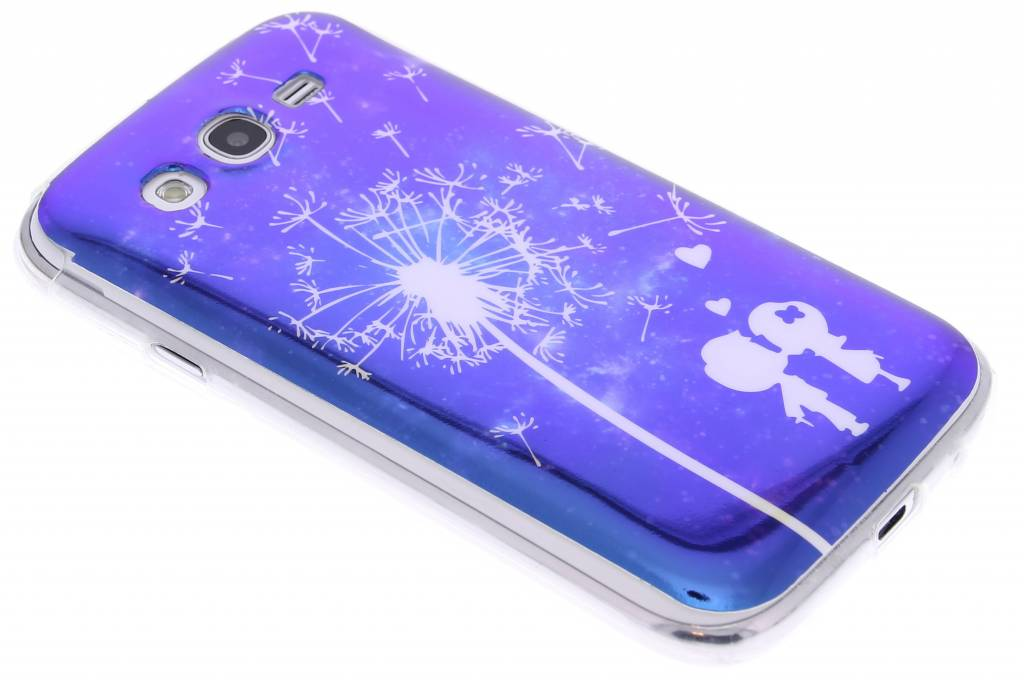 Metallic dandelion design TPU siliconen hoesje voor de Samsung Galaxy Grand (Neo)