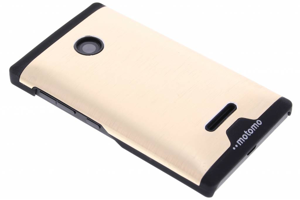 Goud brushed aluminium hardcase hoesje voor de Microsoft Lumia 435