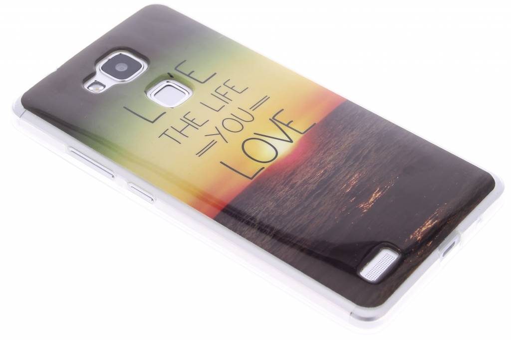 Live the life design TPU siliconen hoesje voor de Huawei Ascend Mate 7