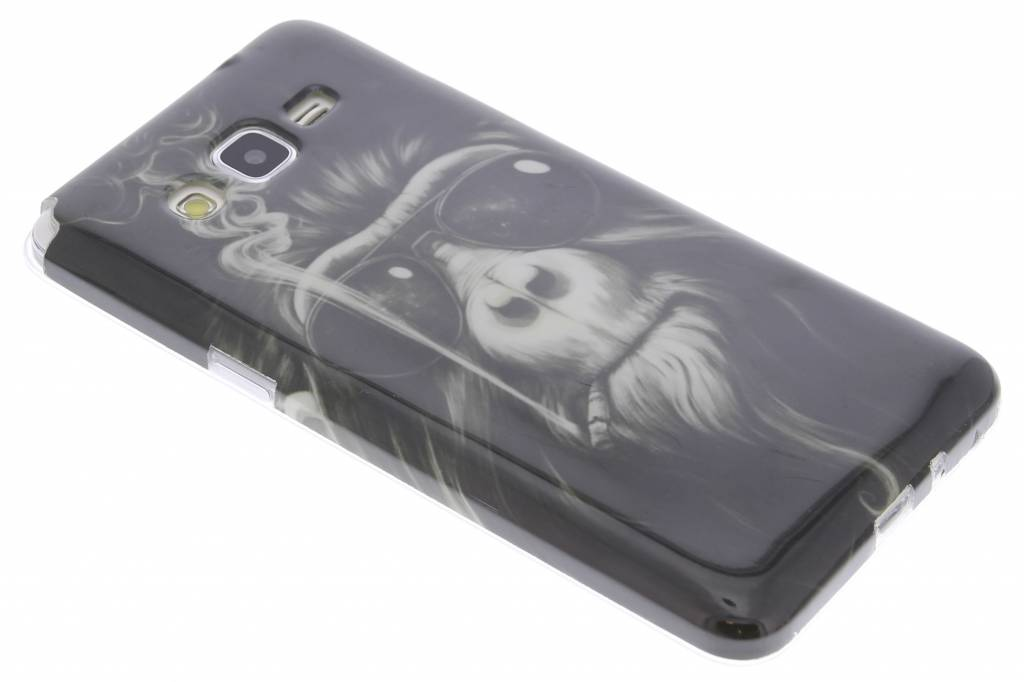 Smoking monkey design TPU siliconen hoesje voor de Samsung Galaxy Grand Prime