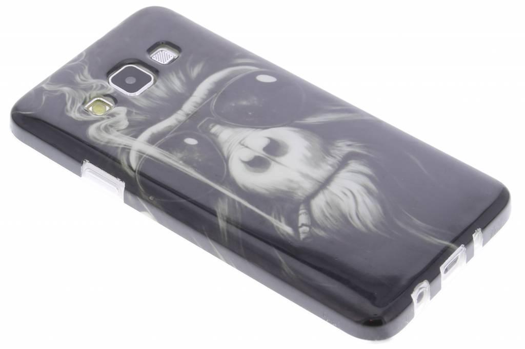 Smoking monkey design TPU siliconen hoesje voor de Samsung Galaxy A3