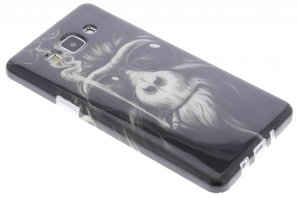 Smoking monkey design TPU siliconen hoesje voor de Samsung Galaxy A5