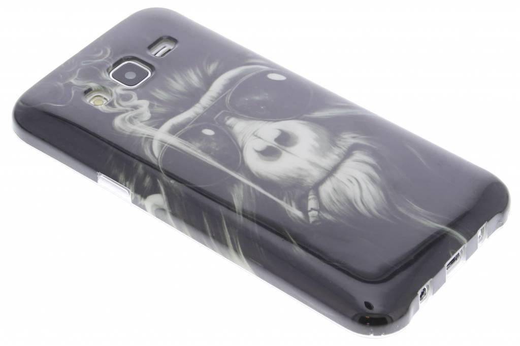 Smoking monkey design TPU siliconen hoesje voor de Samsung Galaxy J5