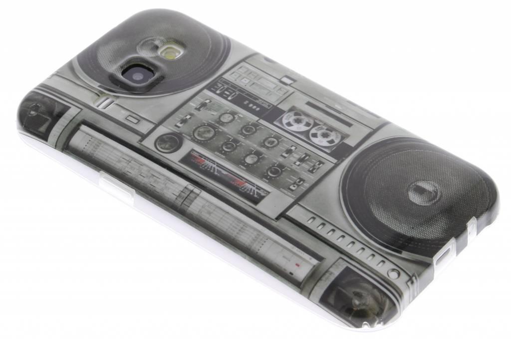 Radio design TPU siliconen hoesje voor de Samsung Galaxy J1