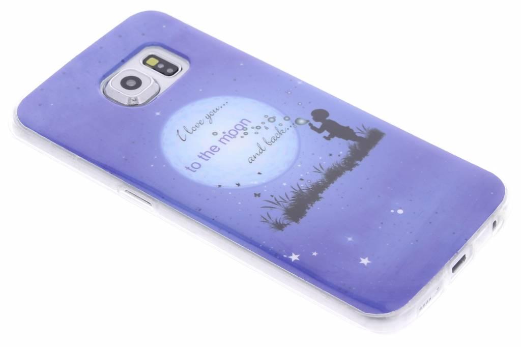 Moon design TPU siliconen hoesje voor de Samsung Galaxy S6 Edge