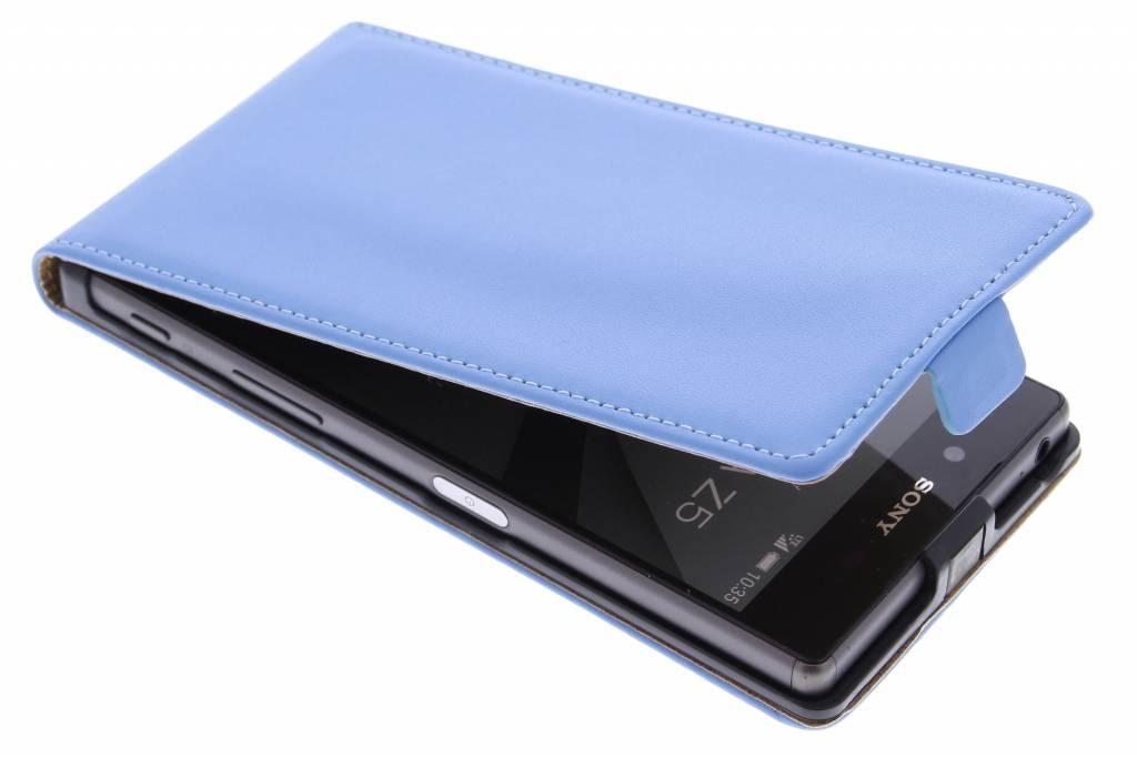 Blauwe luxe flipcase voor de Sony Xperia Z5