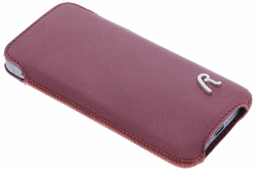 Replay Pocket Leather insteekhoes voor de iPhone 5 / 5s / SE - Aubergine