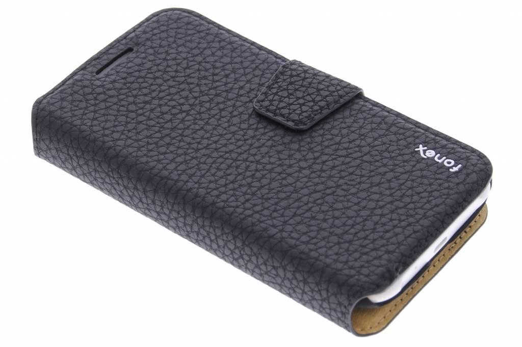 Fonex Booklet Magnetic Detachable voor de Samsung Galaxy J1 - Black