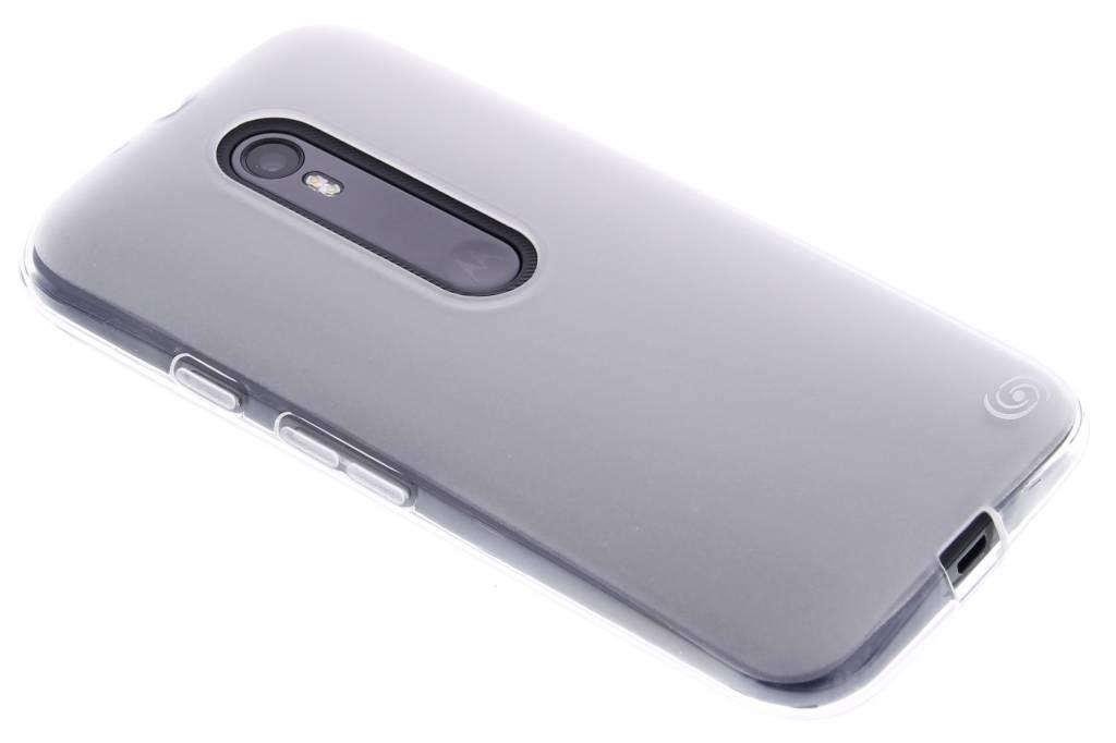 Fonex Pixel TPU Case voor de Motorola Moto G 3rd Gen 2015 - Transparent