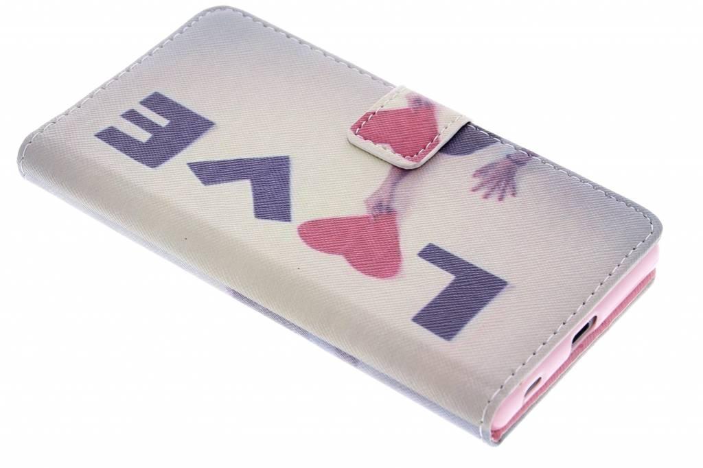 Love design TPU booktype hoes voor de Sony Xperia Z5