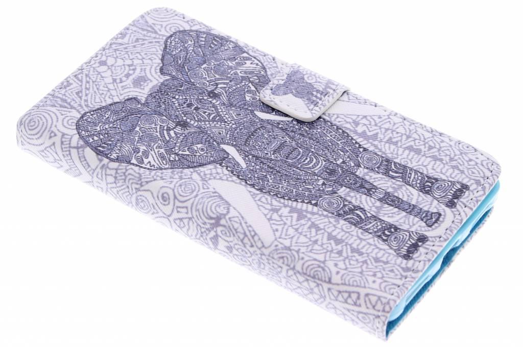 Olifant design TPU booktype hoes voor de Honor 7