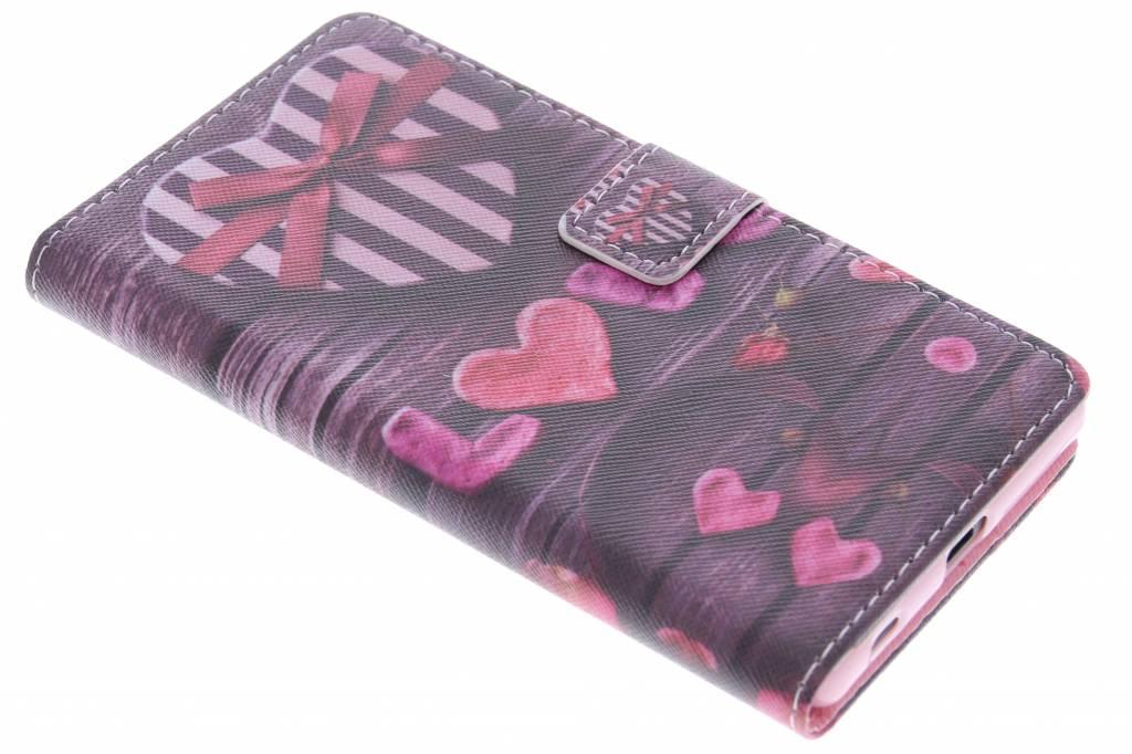 Love met lint design TPU booktype hoes voor de Sony Xperia Z5