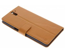 Selencia Luxe lederen Booktype OnePlus One